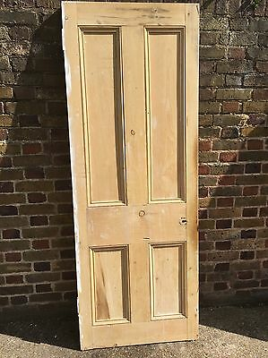 Reclaimed Old Victorian Pine Internal Door