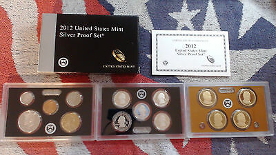2012 United States Mint 14 Coin SILVER Proof Set ...NO SPOTS OR TONING