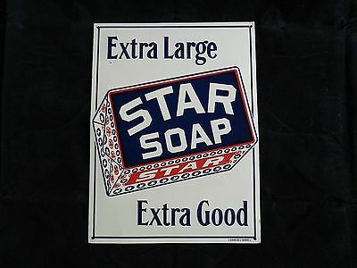 Star Soap Extra Large Extra Good Country Rustic Advertisement Sign, Vintage Look