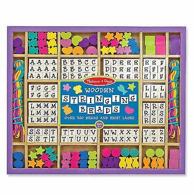Melissa And Doug Wooden Stringing Beads Craft Set NEW Play Traditional
