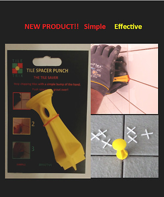 NEW!! Tile Spacer Punch: Stops spacers twisting, punch in hard to remove spacers