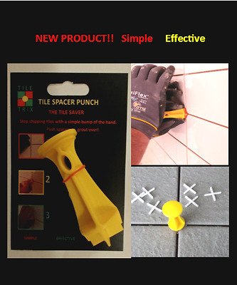 NEW PRODUCT!! TILE SPACERS  PUNCH x 2 modify 1 to suite T-Spacers no twisting