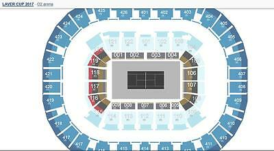 Ticket tennis Laver Cup Sept 22 / 2017 GREAT SEAT