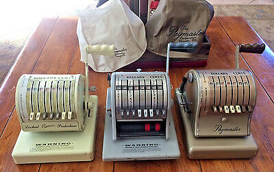 Vintage Paymaster Check Writer LOT X-550 S-600 8000 Stamping Printer MachineS