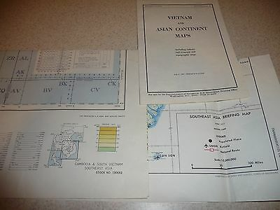 Lot of 3 Vintage 1967/1968 US Army Maps - Vietnam War - Excellent Condition
