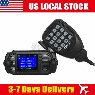 QYT KT-8900D Dual Band VHF UHF Color LCD Quad-Standy Mobile Radio Transceiver US