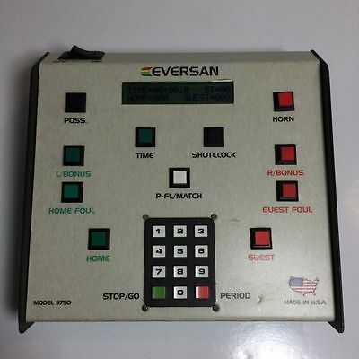 Eversan Basketball Scoreboard Wired controller For Model 9750 Tested Works
