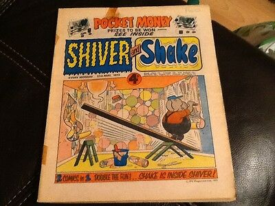 SHIVER AND SHAKE  Paper comic 1973 ISSUE NUMBER 10 Still in great condition