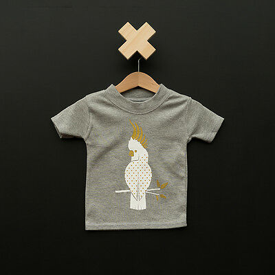 BNWT Liberty Kids Unisex Cockatoo T'shirt (sizes 000,00,0,1-2yrs)