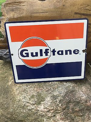 Gulftane Porcelain Sign