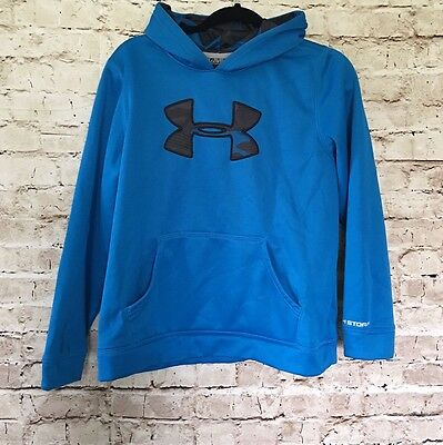 Under Armour Pullover Hoodie Boys Size XL Youth Blue Black