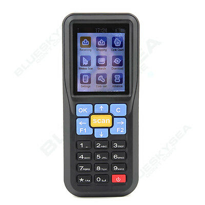 AU! 2.4 inch LCD Wireless & Wired Barcode Laser Scanner Data Inventory Collector