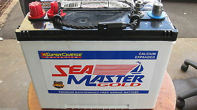 Supercharge Sea Master Gold Marine Boat Batteries Mfm50 Brand New 2Yrs Warrant