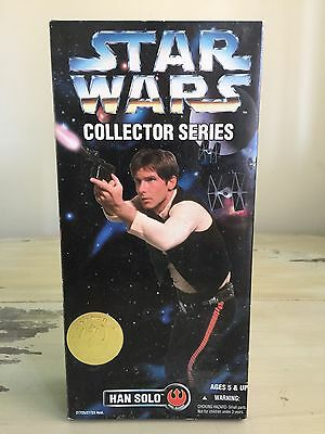 """HAN SOLO - STAR WARS COLLECTOR SERIES - NIB 12"""" Action Figure, 1996 New In Box"""