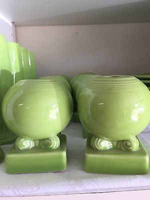 Fiestaware 1 chartreuse Green Round Bulb Candle Holder Retired Exclusive NEW One