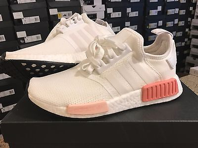 best service 89003 cd5f0 ADIDAS NMD R1 Runner White Rose White Pink BY9952 Women Brand New