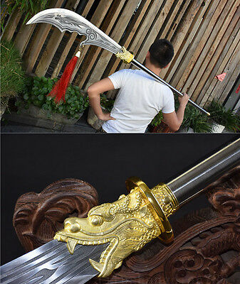82' 1095 High Carbon  Steel Blade  Hand Made Chinese Sword Dao (关公刀)