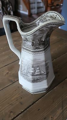 Rare GREAT Condition Antique 1800s Francis Morley American Marine Water Pitcher