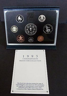 1993 United Kingdom Proof Coin Collection 8 Coins  Mint Condition With COA