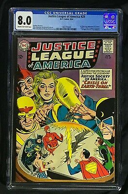 Justice League of America #29 CGC 8.0; JSA; 1st Crime Syndicate