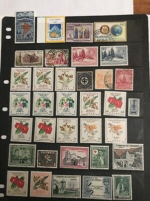 stamps Colombia  - MLH and used - lot 386