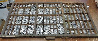 Large Lot Letterpress 12pt. Metal Printer's blocks Small & Large Caps