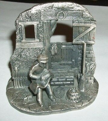 The Tudor Mint  Fisherman Pewter Miniature Art Figurine Statue