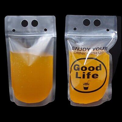 Matte Clear Stand Up Beverage Drink Pack Bags for Milk Tea Store Packaging Pouch
