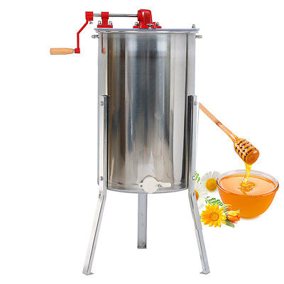 2 Frame Honey Extractor Beekeeping Equipment Stainless Steel w/ Stand Holder US