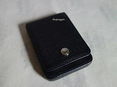 NWT Coach Black Pebbled Leather Business Credit Card Holder