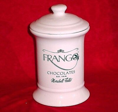 Marshall Field's Vintage Frango Mints Chocolates Ceramic Apothecary Jar Rare!!