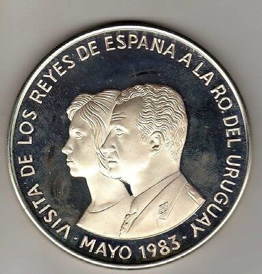 Uruguay 2000 New Pesos 1983, Silver Unc. Condition