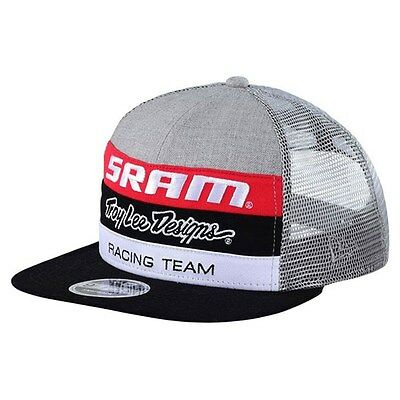 Troy Lee Designs NEW 2017 TLD MTB Team SRAM Grey Black Adults MTB Team Snapback