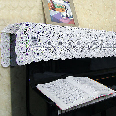 Beyond 78*35 inches Dustproof Canopy M99G White Lace Upright Piano Half Cover