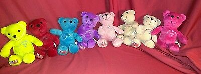 8 Timeless Toys Original Collectible State Quarter Bears #s 4, 6-9, 11, 16, 18