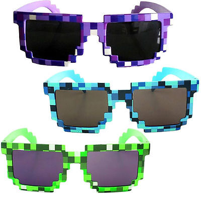 Novelty Pixel Mosaic Glasses Sunglasses Party Cosplay Photo Prop Toy Unisex