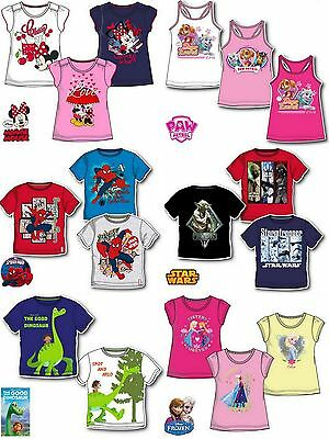 Boys Girls Kids Disney Marvel Character T-shirt Top age 3-12 years SALE!