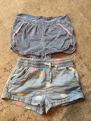 2 x Cotton On girls shorts size 1 y