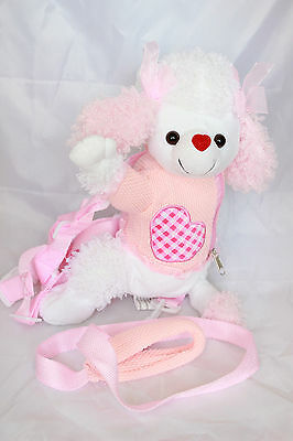 Girls Pink Dog Leash Backpack Doll Toy Safety Harness Kids Toddler Plush Gift