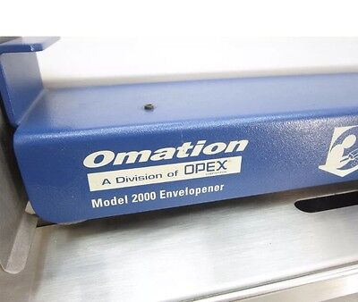 Omation Envelopener 2000 Industrial Letter Mail Opener *Tested*
