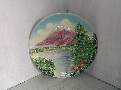 Vintage MT HOOD OREGON Souvenir Plate 3-D Look Or