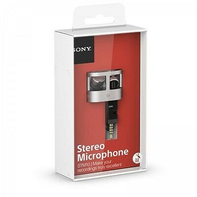 NEW & SEALED Sony STM10 Stereo Microphone Silver RRP £39.99 for Android phones