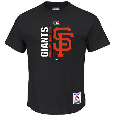 SF Giants Majestic MLB AC On-Field Team Icon T-Shirt - Black