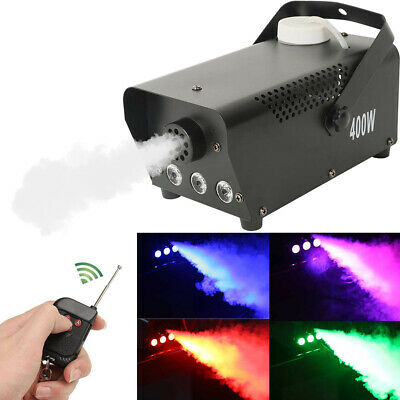 1500W 9 LED Color Smoke Effect Machine Stage Fogger Equipment Wireless Control