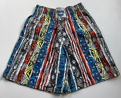 Vtg International Baggyz Shorts Gray Red Black Muscle Baggy 80's Small NEW