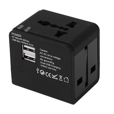 Universal Travel Adapter International World With Dual USB Charger  AU STOCK