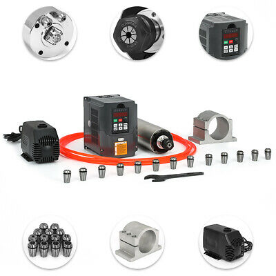 2.2KW Water-cooled Spindle Motor+HY Inverter+Pump+Pipe+Clamp+Collet set+Wrench