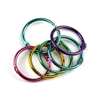 "25Pcs Multicolor Metal Book Rings Loose Leaf Binder Rings,Diameter 1""  TO505"