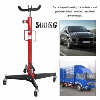 RED 0.5T 1102lbs Vertical Hydraulic Transmission Gearbox Jack Lift Garage Tool