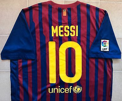 Authentic Nike Barcelona 11/12 Home Jersey - Messi 10. BNWOT, Mens XL.